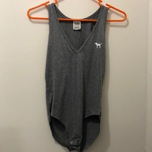 PINK Gray Body Suit